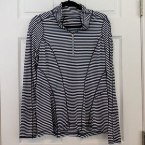 Zella Run Stripe Half Zip Pullover